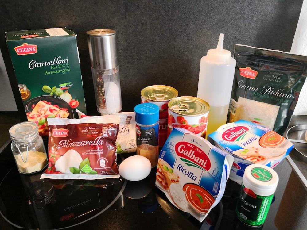 Cannelloni mit Ricotta-Füllung